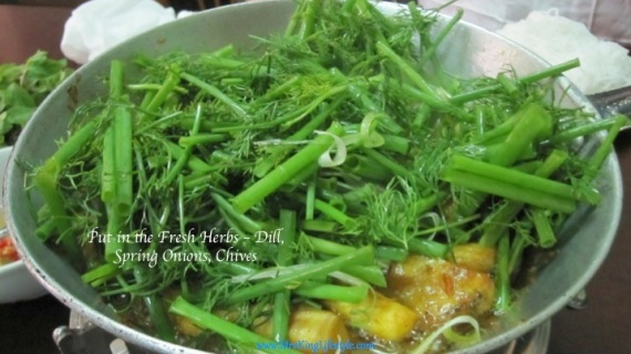 Hanoi Cha Ca La Vong Herbs in Pan_new