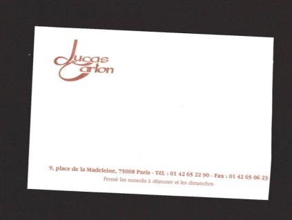 Lucas Carton 1997 card